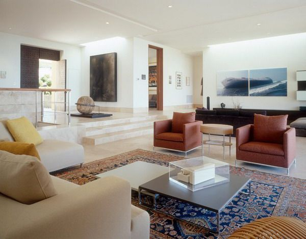 Persian Rug And Modern Furniture