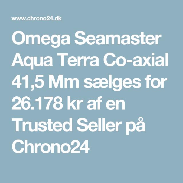 Omega Seamaster Aqua Terra Co-axial 41,5 Mm sælges for 26.178kr af en Trusted Seller på Chrono24