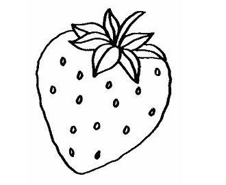 Fresa Para Colorear Frutas Para Colorear Dibujos De Frutas Paginas Para Colorear Para Ninos