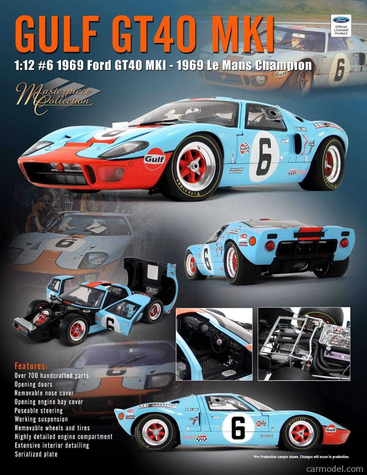 Ford Usa Gt40 4 9l V8 Team Jw Automotive Engineering N 6 Winner 24h Le Mans 1969 J Ickx J Oliver In 2020 Le Mans Automotive Engineering Gt40