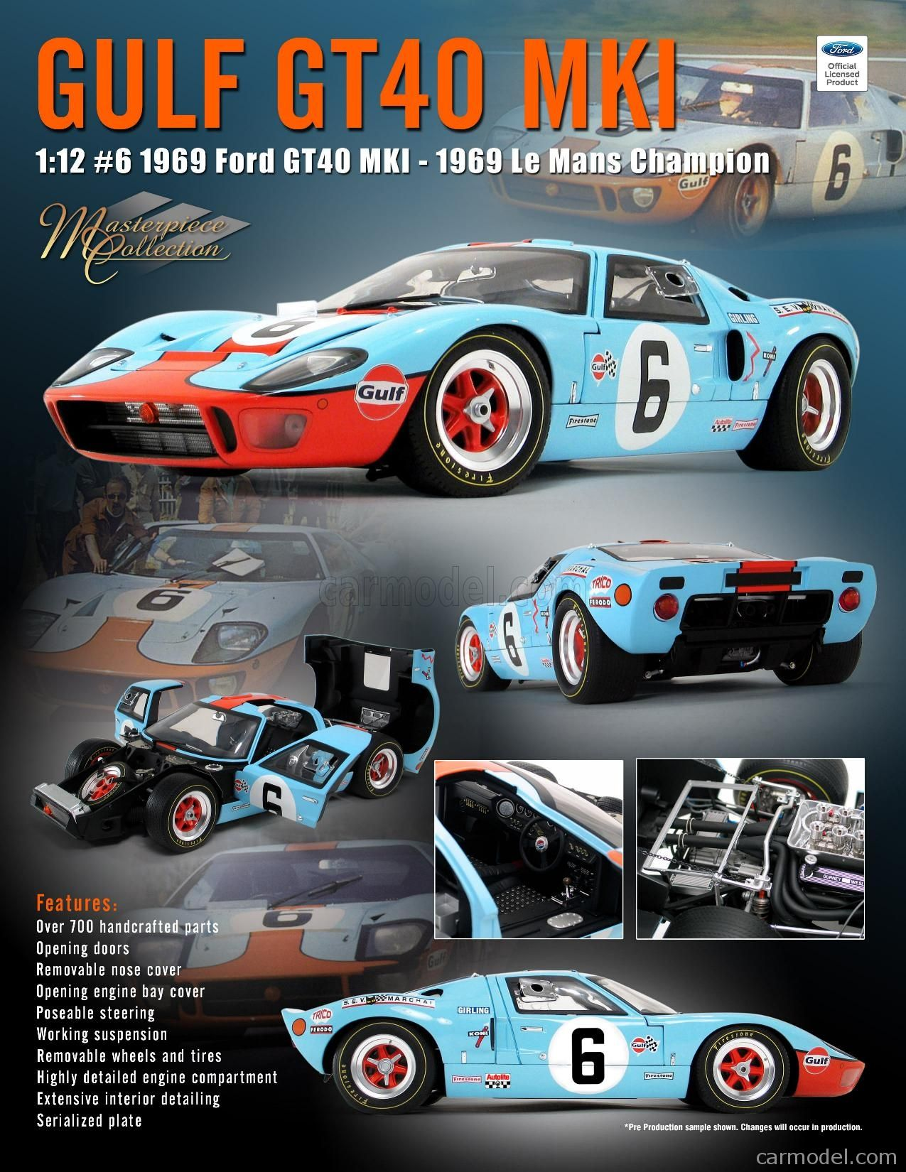 Ford Usa Gt40 4 9l V8 Team Jw Automotive Engineering N 6 Winner
