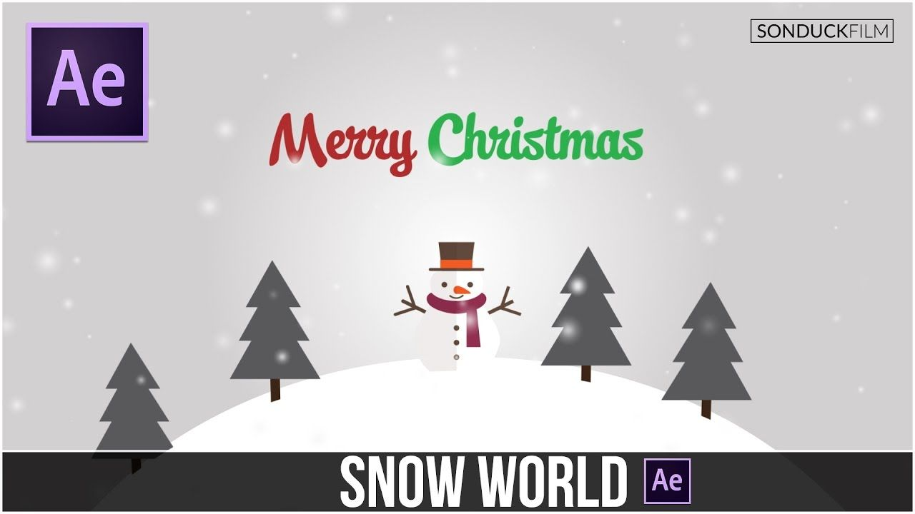After Effects Tutorial 3d Snow World Animation After Effect Tutorial Adobe After Effects Tutorials After Effects