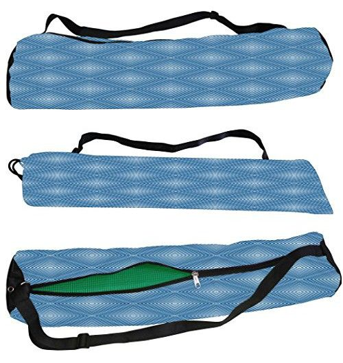 c9e58699763e Snoogg Blue Pattern Canvas Yoga Bag Peace Beautifully Crafted for Extra  Wide Yoga Mat and Gym Mat up to a height of 186 x 63 x 0.6 cm 7000 Various  Premium ...