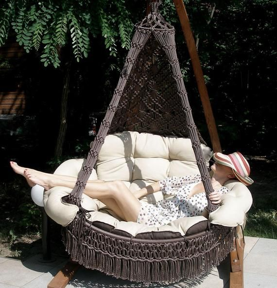 Swing Chair With Wooden Stand Free Shipping Etsy