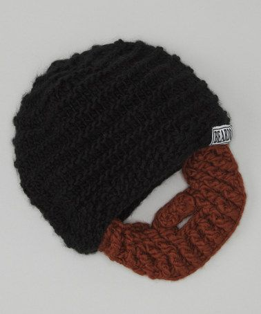 Take a look at this Black Beanie & Brown Beard - Adult by Beardo on #zulily today!