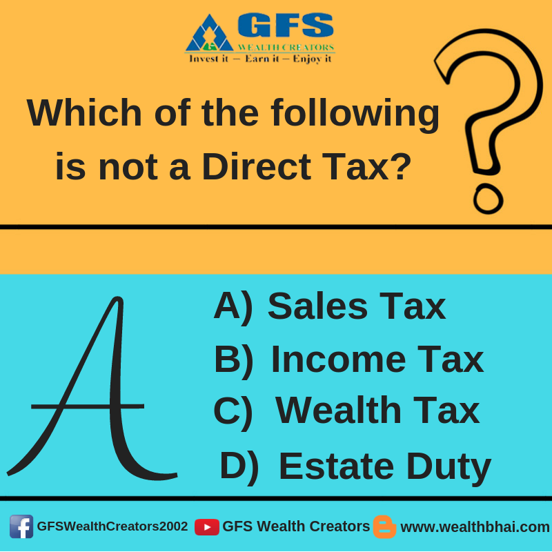 Quiztime Write The Correct Option In The Comment Below Let S Play Learn Mutuals Funds Angel Broking Wealth Tax