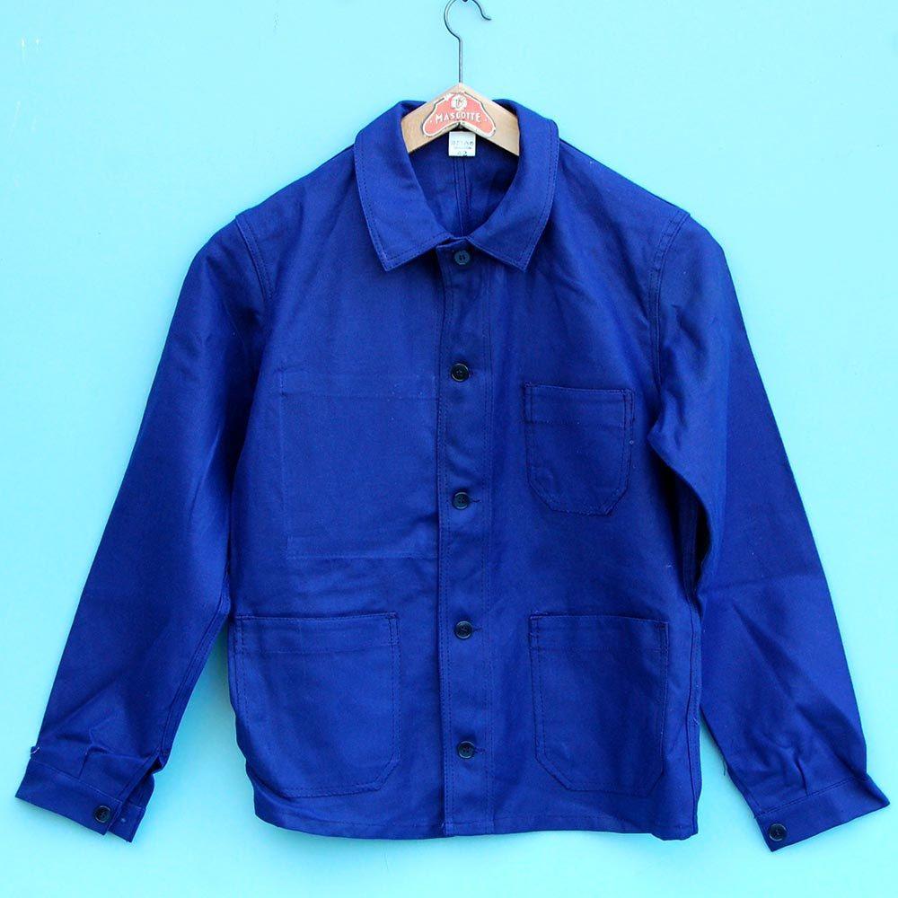 vintage french chore jacket bleu de travail adolphe. Black Bedroom Furniture Sets. Home Design Ideas