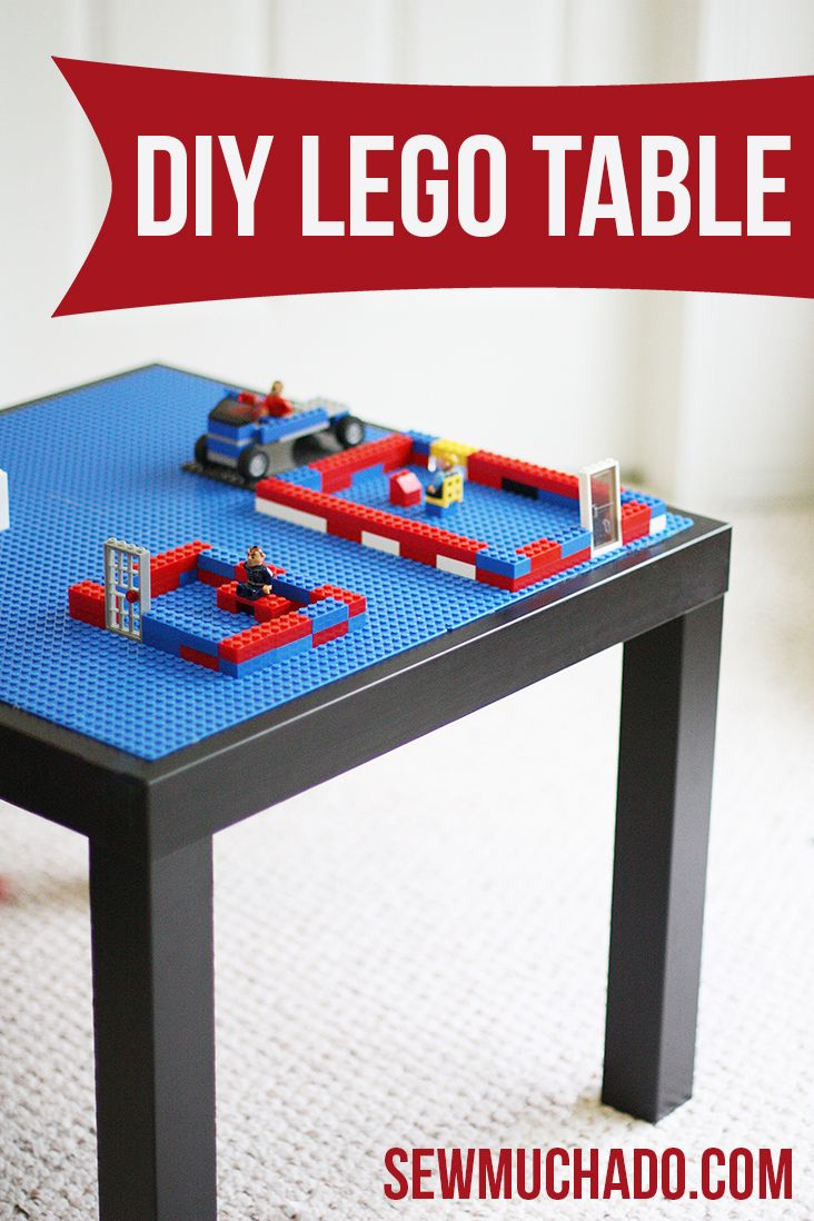 DIY Lego Table - so easy and inexpensive!