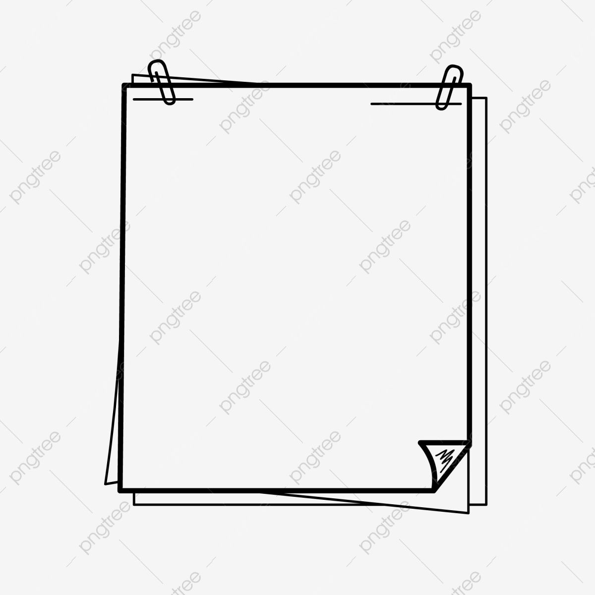 Hand Drawn Black And White Lines Note Paper Border Border Clipart Photo Cartoon Hand Drawn Style Border Png And Vector With Transparent Background For Free D Black And White Lines Borders