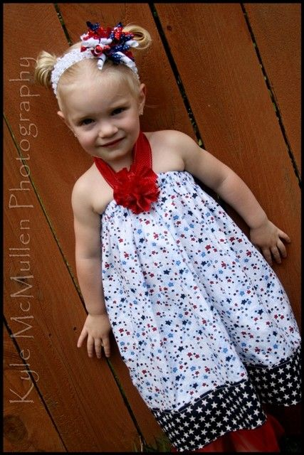 Patriotic Summer Halter Dress with frayed by ashlynsbowtique, $29.95