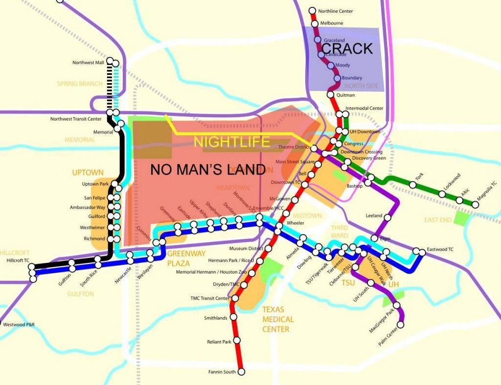 Houston Texas Subway Map.Houston Metro Rail Expansion Edited From Www Ctchouston Org Ra