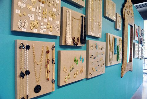 canvas jewelry holders DIY Pinterest Organizing Jewellery