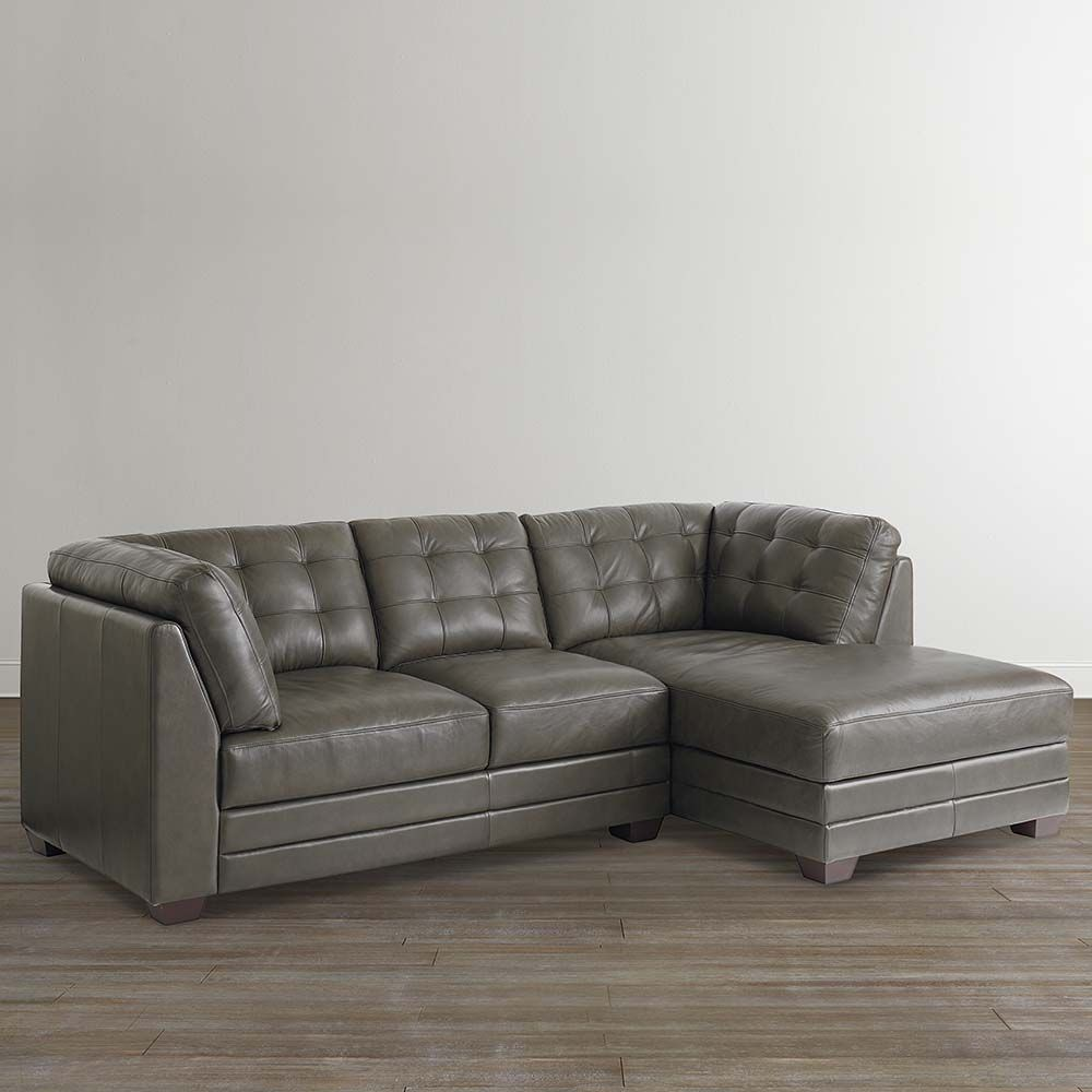 Affinity Leather Right Chaise Sectional