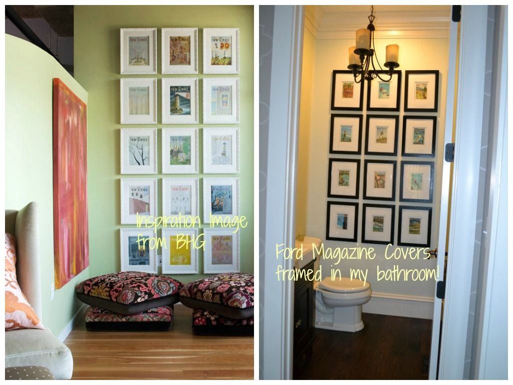 Bhgcom Article With New Yorker Framed Magazine Covers  I Used - Bhg living room design ideas
