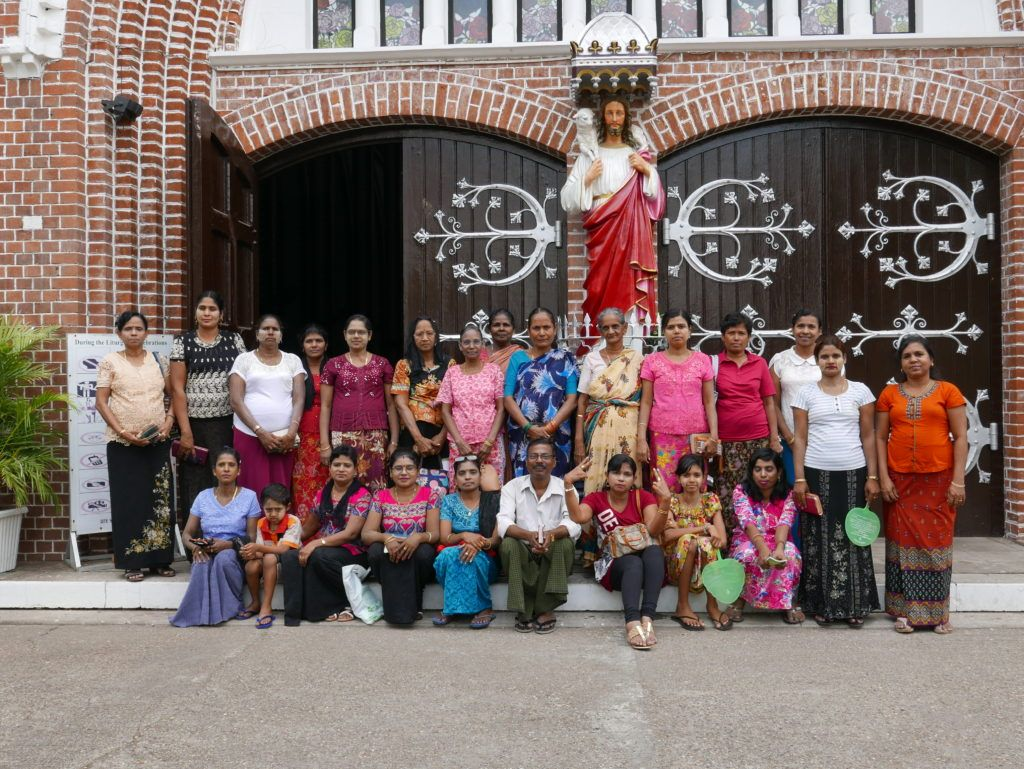 A group of visitors at St Mary's Cathedral, Yangon, Myanmar. They came in, and sang a hymn beautifully, before going outside for a photo. #Yangon #Rangoon #Myanmar #Burma #SEAsia #Traveling #Travelling #StMarysCathedral #Cathedral #Wandering #Wanderer #travel #travelblogger #travelphotography #wanderlust #NicksWanderings  http://buff.ly/2qtjiiu?utm_content=buffer0e498&utm_medium=social&utm_source=pinterest.com&utm_campaign=buffer