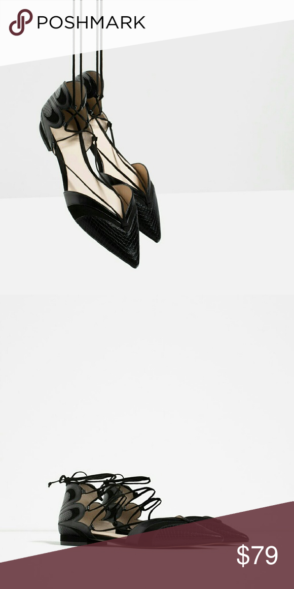 Clearout sale! (LOWEST PRICE)Zara flat Super cute. Brand new. Size 40 ( 9 ) Zara Shoes Flats & Loafers