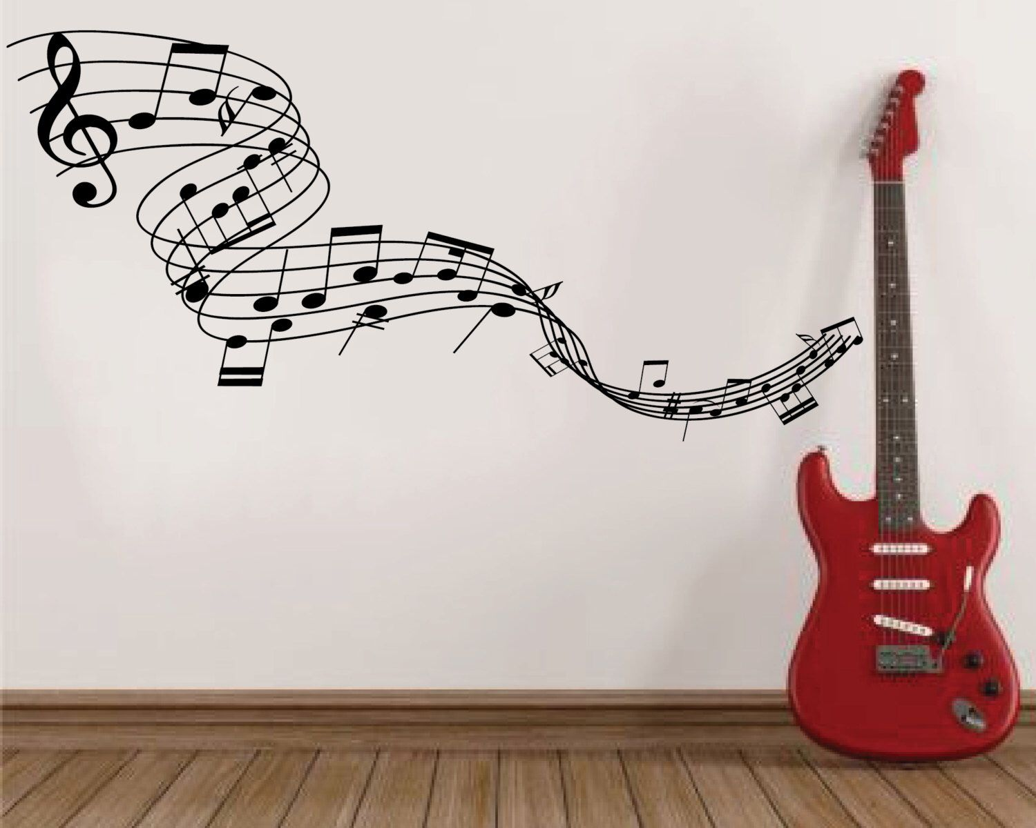 Music Stave Wall Decal Musical Wall Decal Music Stave Wall Etsy Music Room Wall Nursery Wall Decals Girl Wall Decals