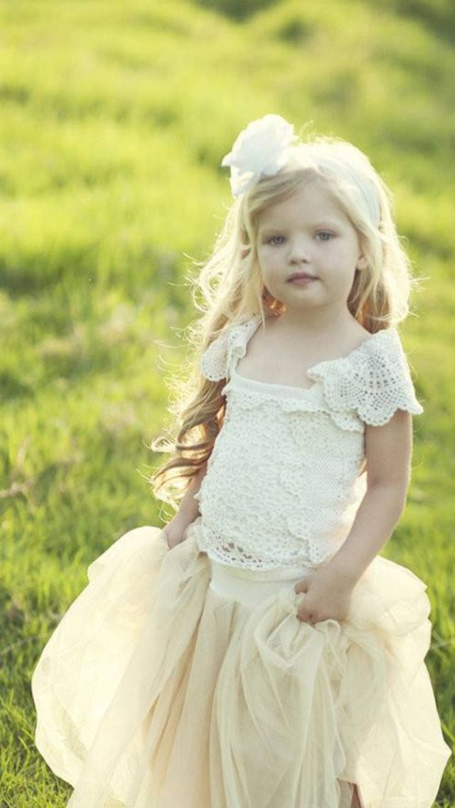 41c8e674eb Fanciful Flower Girls ❀ dresses   hair accessories for the littlest wedding  attendant  -) vintage pale yellow