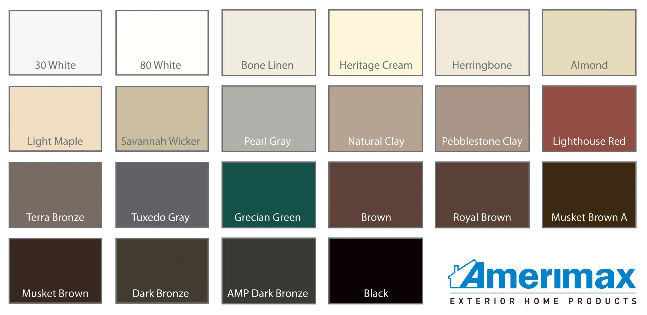 Metal Home Siding Gutter Colors Aluminum Siding Colors Siding Colors
