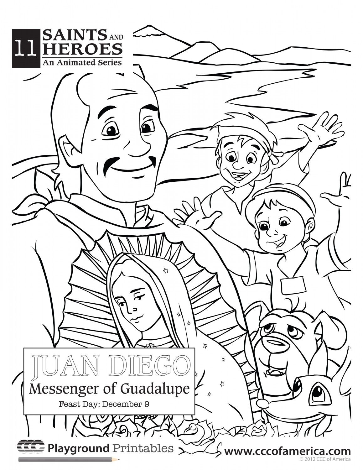 Juan Diego | Catholic coloring pages | Pinterest