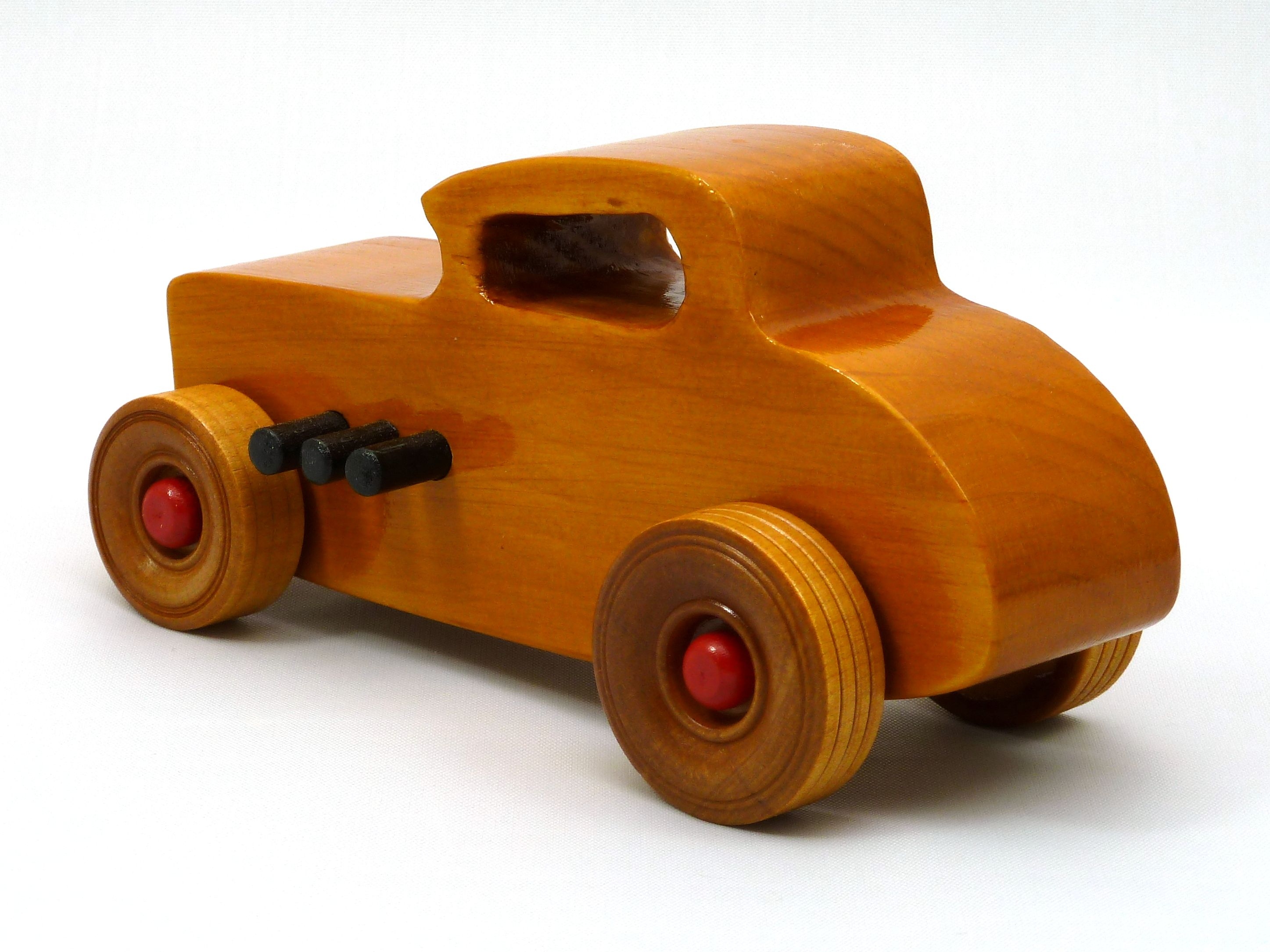 Little car toys  Handmade Handcrafted Wooden Toy Car Hot Rod Freaky Ford  Deuce