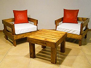 sillones ideal balcon exterior madera muebles jardin