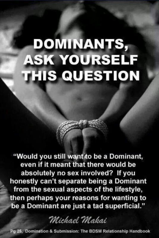 What does it mean if you are sexually submissive