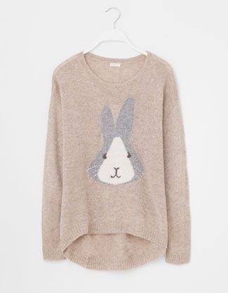 Pull lapin -- Super duper cute for the winter time with just leggings and cute little winter boots!