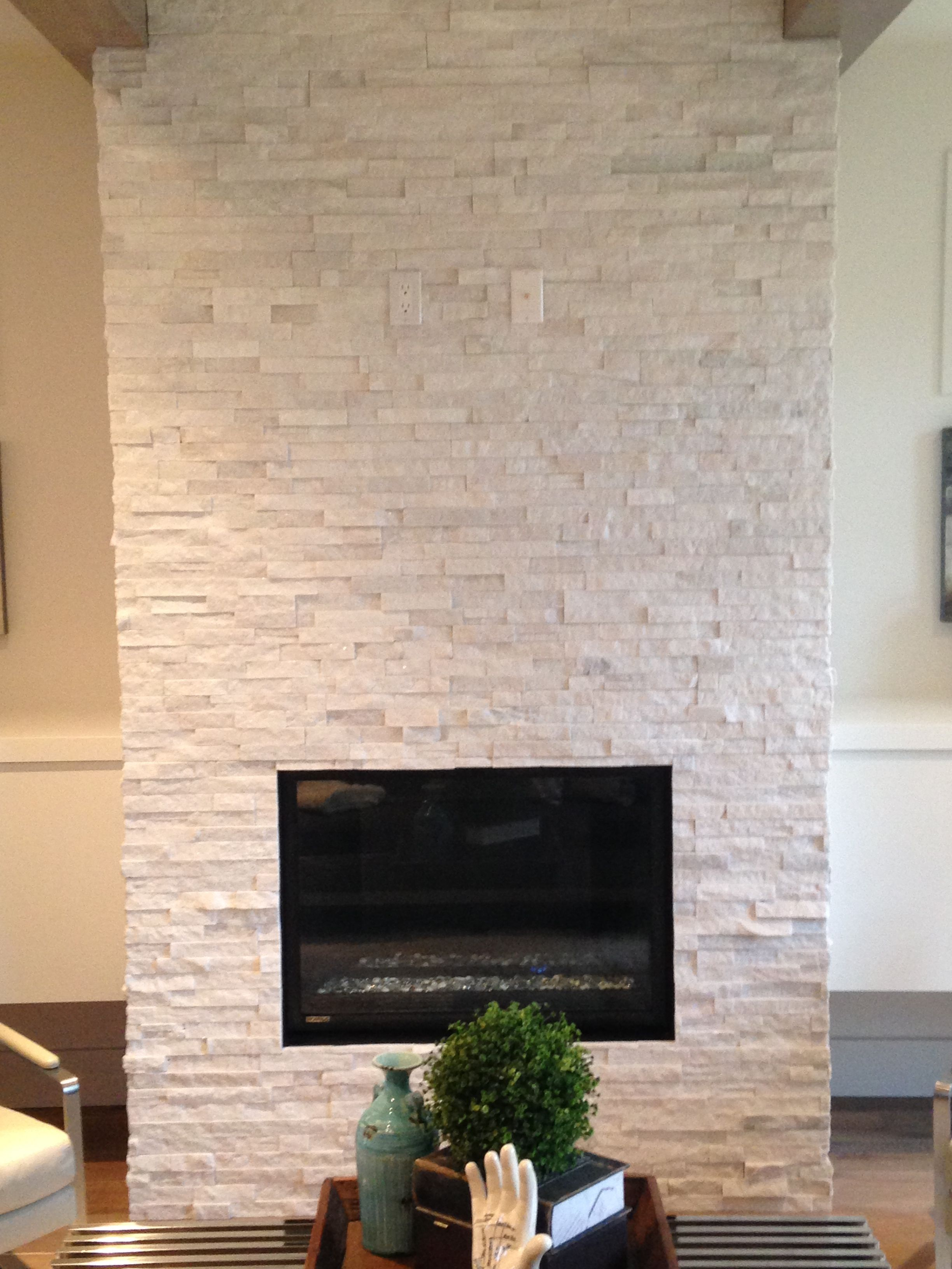 Quartz Ledgestone Fireplace Supplied And Installed By Floor