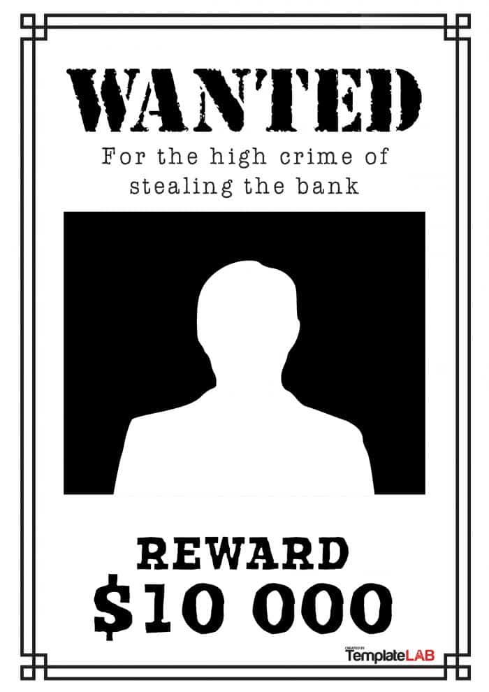 Publisher wanted poster template