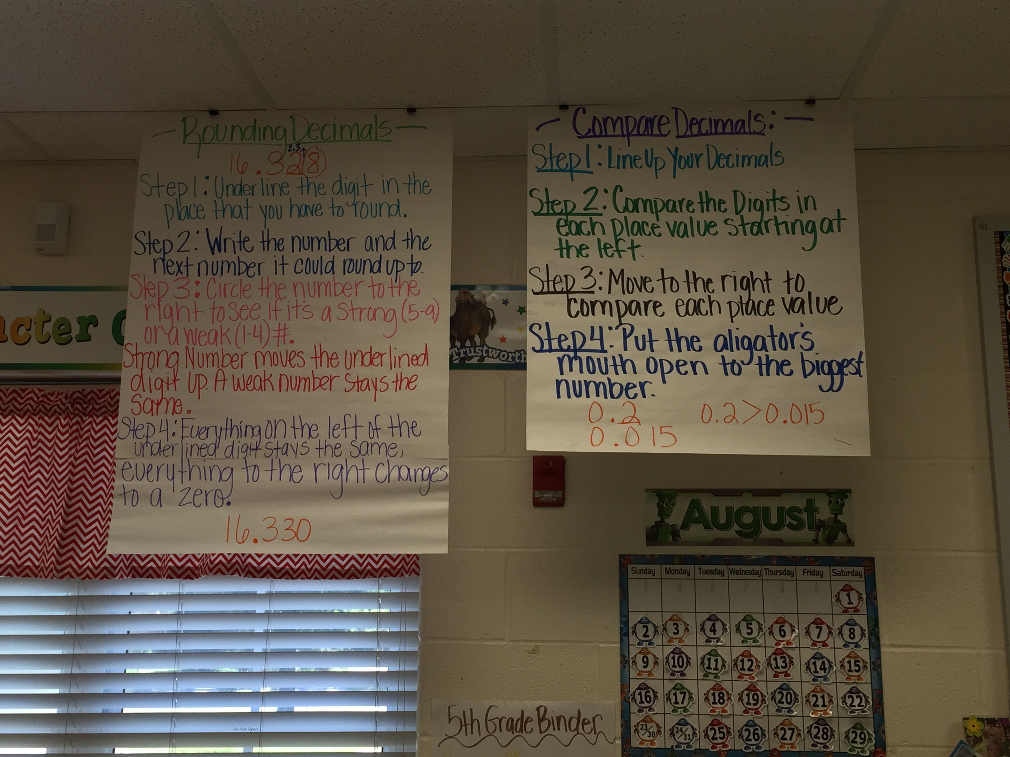 Rounding And Comparing Decimals Anchor Chart