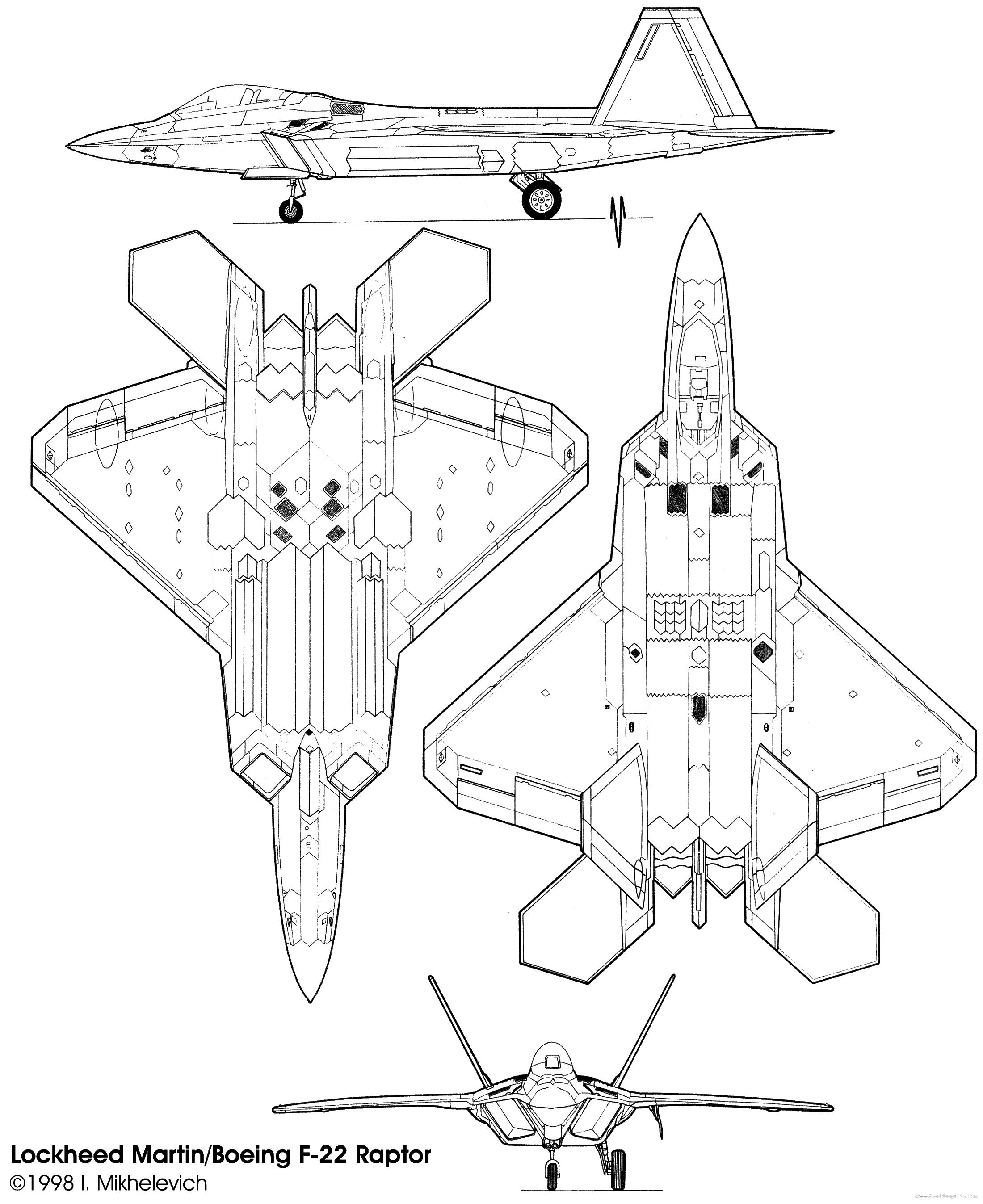 Lockheed Martin Boeing F 22 Raptor