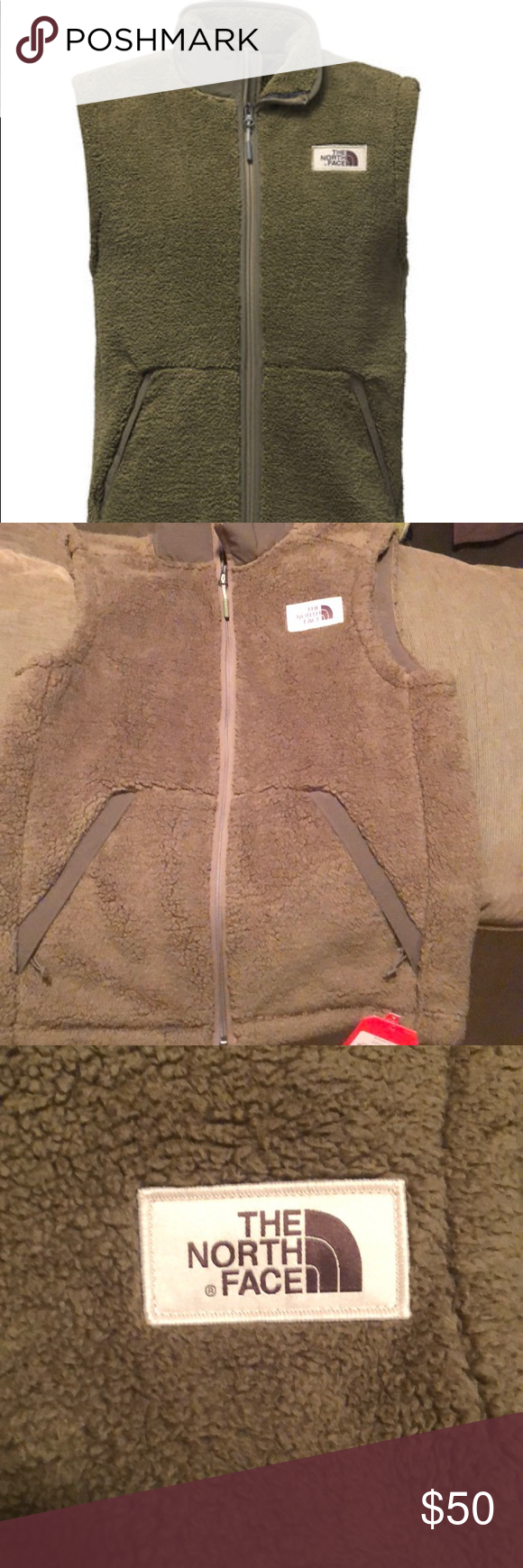 995c236ae NWT North Face olive green vest small unisex NWT North Face olive ...