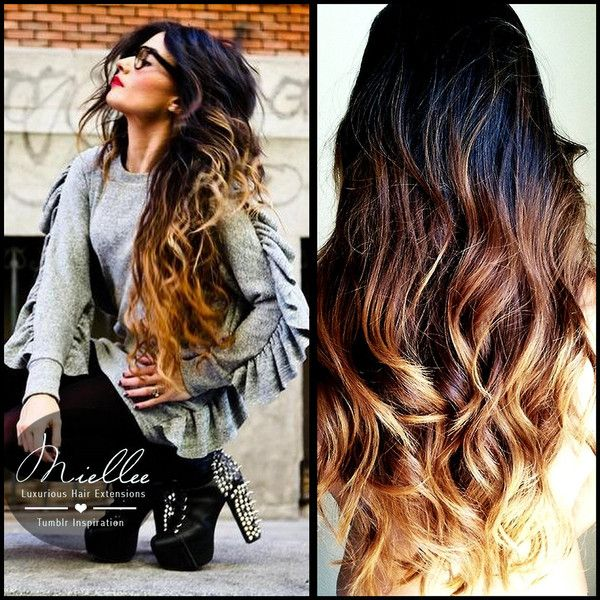 Sunrise Ombre Hair Extensions Natural Human Hair Weave Body