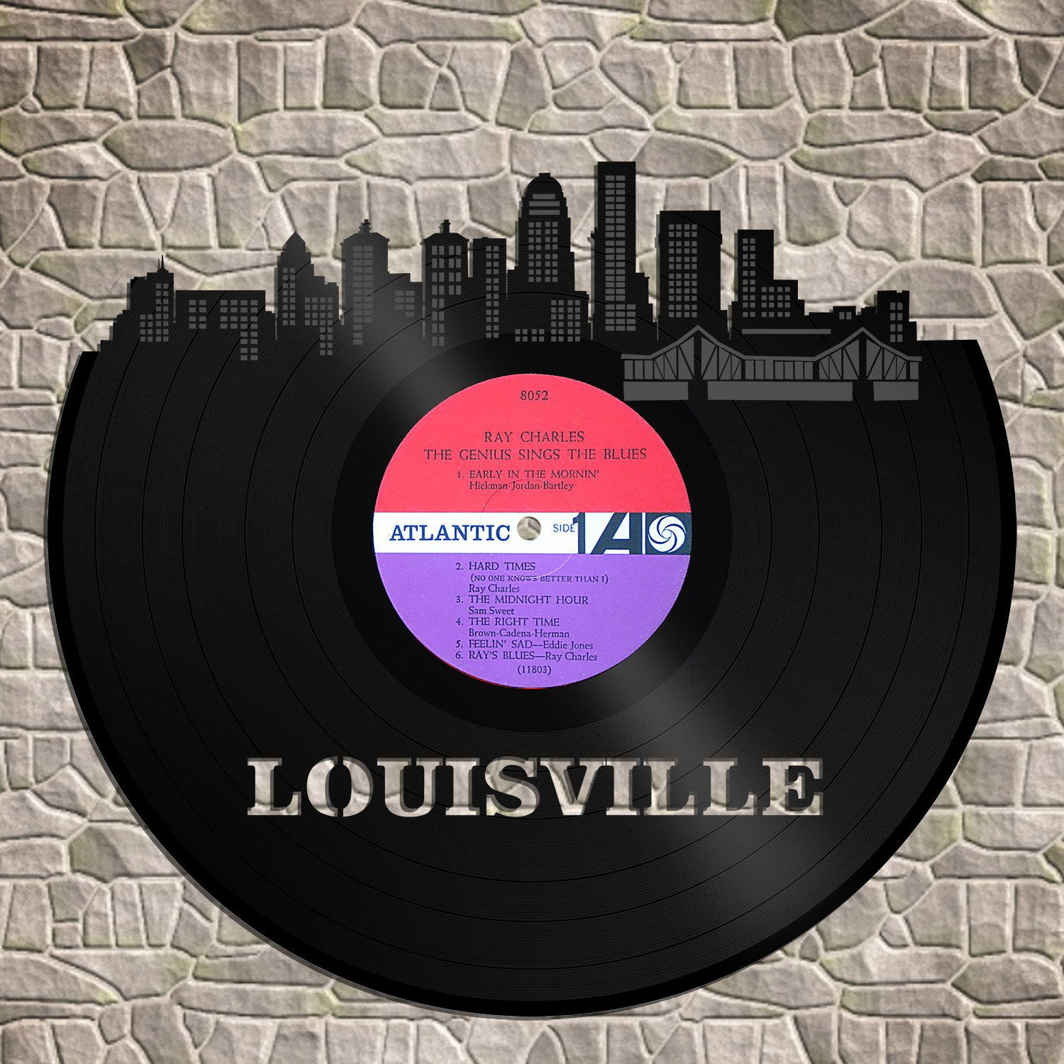 Skyline Wall Decor Louisville Skyline Louisville Cityscape Vinyl Record Art Bachelor Gift Louisville Wedding Illustration By Vinylshopus On Etsy