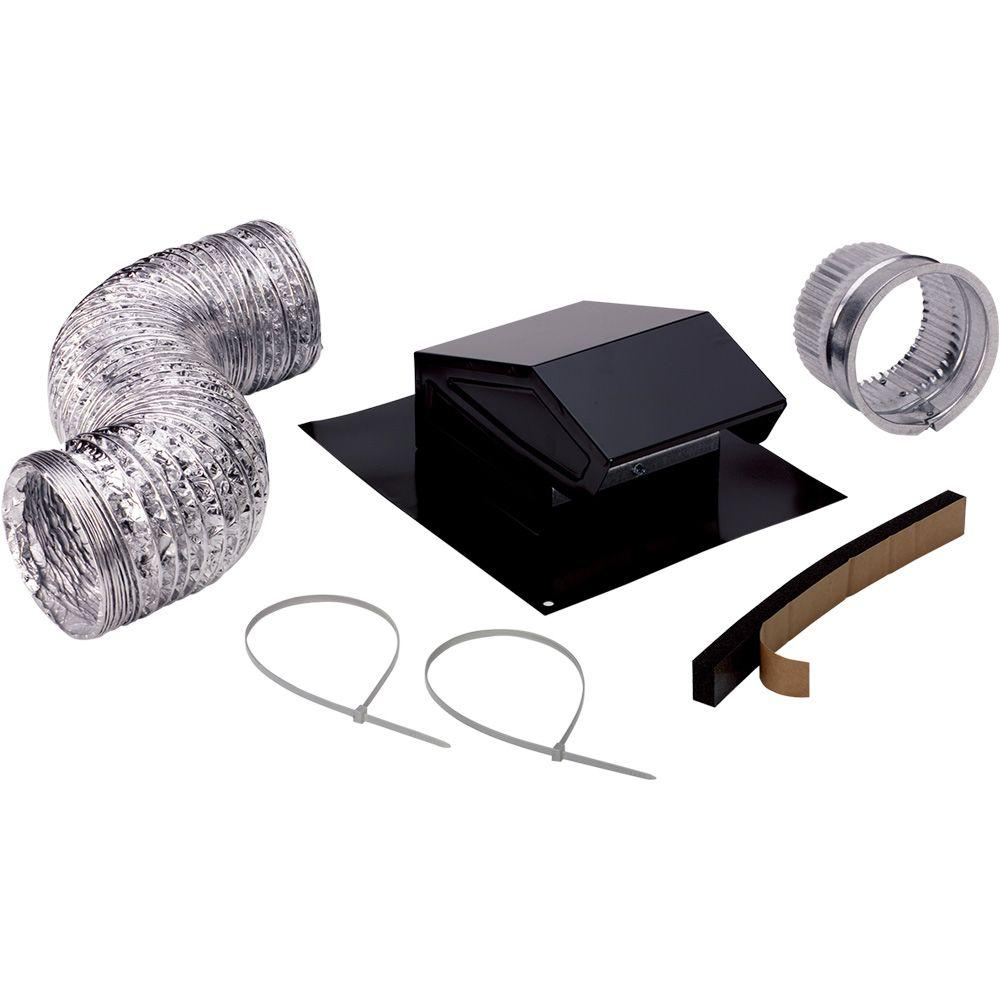 Broan 3 in. to 4 in. Roof Vent Kit for Round Duct Steel in