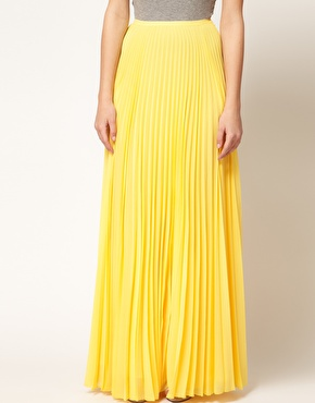 Very Royal Pleated Maxi Skirt - Yellow - Le Boutique Shop | LBS ...