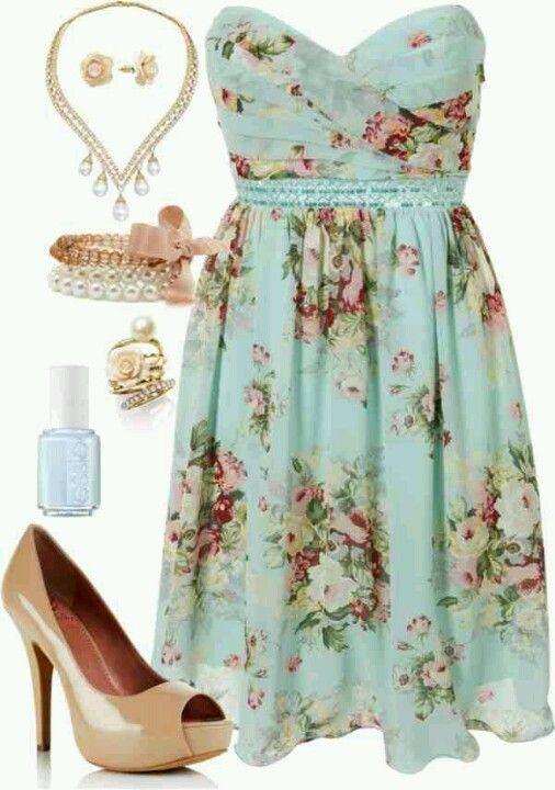 Adorable little floral dress.
