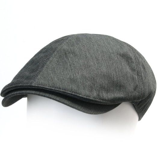 60ccb80ae61 Amazon.com  ililily New Men¡¯s Cotton Flat Cap Cabbie Hat Gatsby Ivy Caps  Irish Hunting Hats Newsboy with Stretch fit - 004-1  Clothing