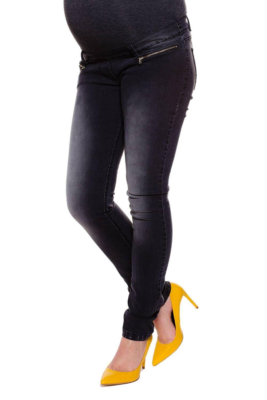 054950e9154b Pantaloni premaman Lexi grigio - materiale elastico super-comodo che si  estende in tutta la