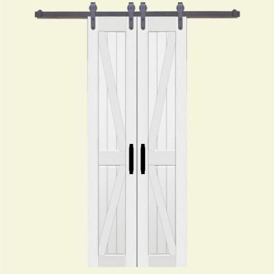 Double Barn Doors For A Closet In Our House Double Barn Doors Diy Barn Door Sliding Barn Door Closet