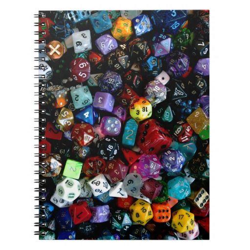 RPG Multi-sided Dice Notebooks
