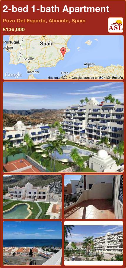 2-bed 1-bath Apartment in Pozo Del Esparto, Alicante, Spain ►€136,000 #PropertyForSaleInSpain