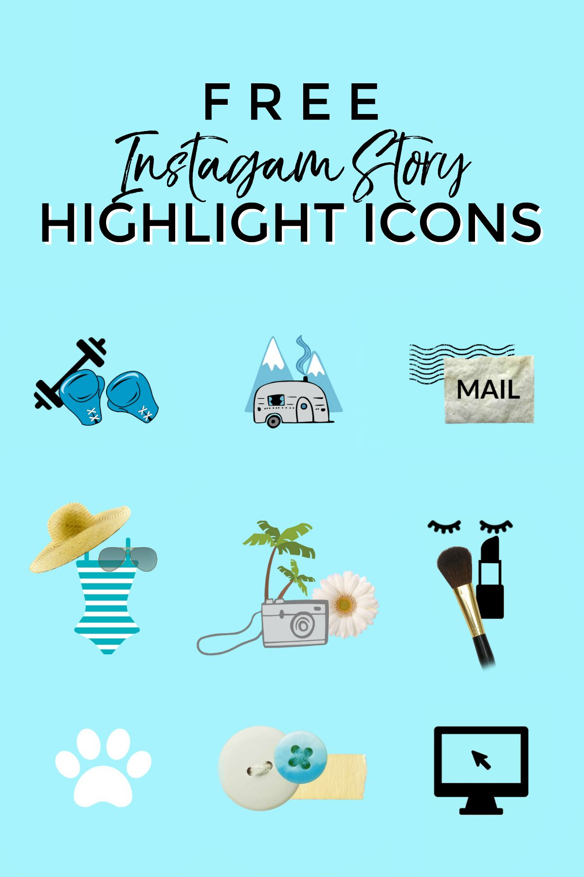 Instagram Story Highlight Icons Tutorial (free download