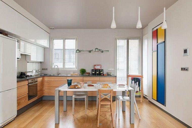 cucine-ad-angolo-moderne-pavimento-parquet | Cucine | Cucine, Cucine ...