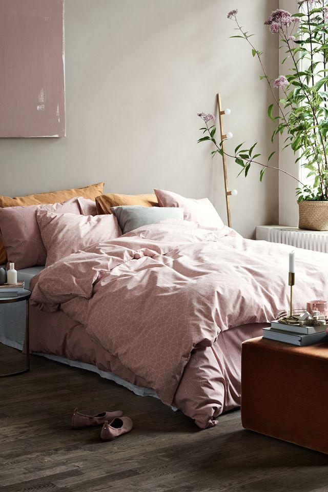 Nieuwe roze dekbedhoes van h&m - Zolder | Pinterest - Slaapkamer ...
