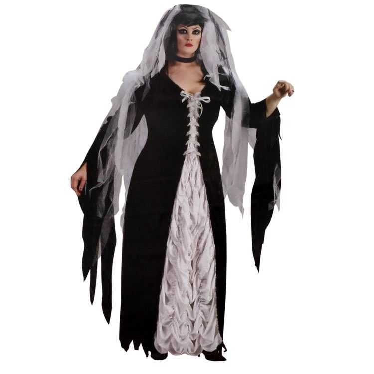 Bride of Darkness Womens Plus Size Costume