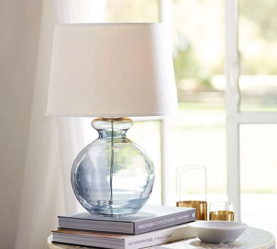 Aubrey Sphere Lamp Glass Table Lamp Lamps Living Room Sphere Lamp