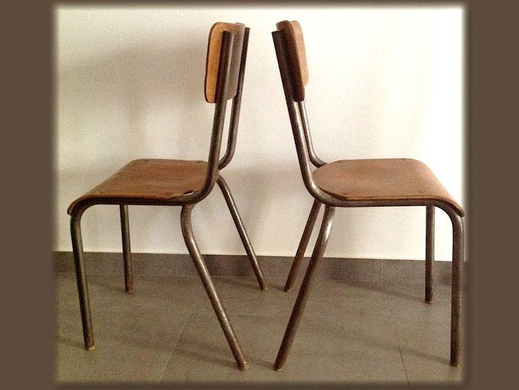 chaises d 39 cole type mullca 510 vintage le mobilier pinterest chaise ecole chaise et. Black Bedroom Furniture Sets. Home Design Ideas
