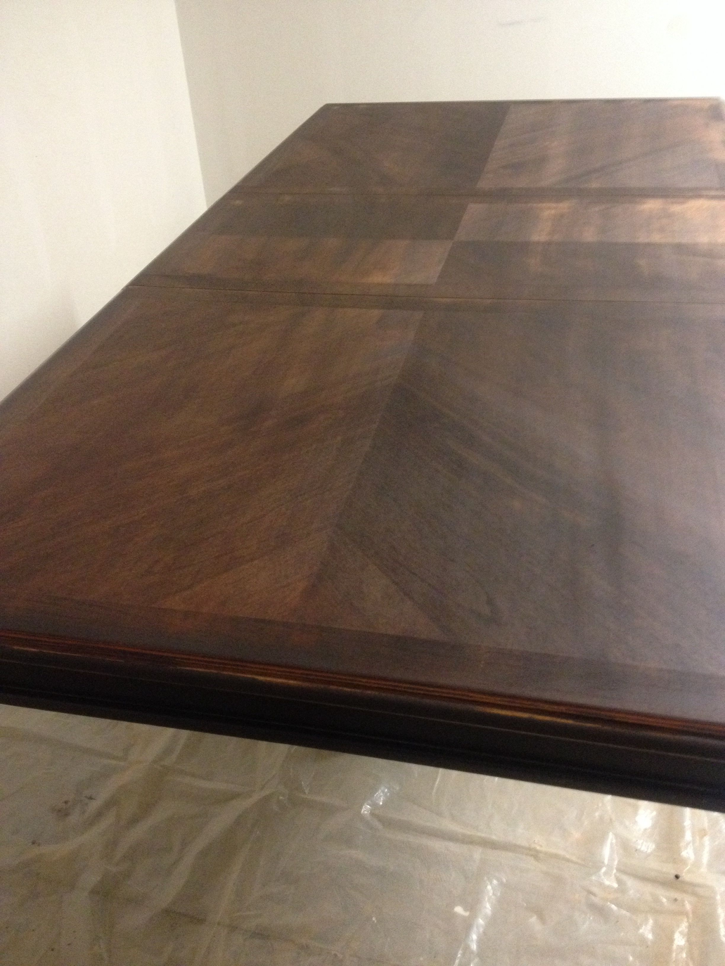 Stained 3 Coats Minwax Espresso Stained Table Dining Table Coffee Table